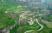 The road leading to Tatev monastery