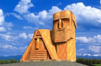 Symbol of Nagorno Karabakh known as «Tatik-Papik»