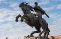 The Monument to the hero of «David Sasuntsi» Armenian epos