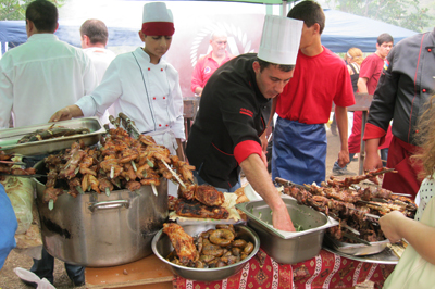 Barbecue festival in Armenia